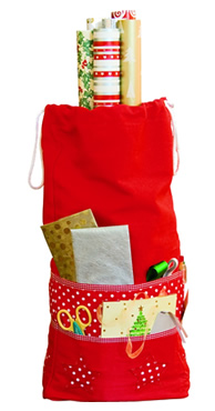 Gift Wrap Storage Bag - Red