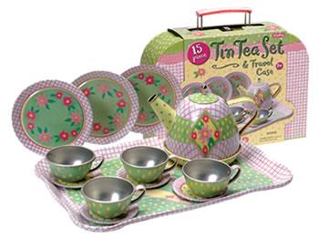 Children's Tin Tea Set (case)