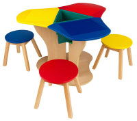 Activity Center with Three Stools