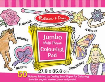 Jumbo Colouring Pad - Pink