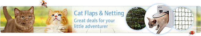 Cat flaps and netting from Zooplus