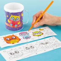 3 Little Owls Colour-in Mugs from Baker Ross