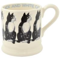 Black & White Cat Half Pint Mug