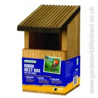 This Gardman Robin Nest Box is available from Garden Wildlife Direct for under £5