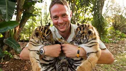 10% off Giles Clark's Big Cats Afternoon Tea and Tour for Two in Kent