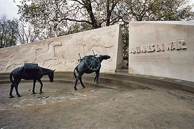The Animals in War Memorial is a tribute to all those animals who have served, suffered and died in war