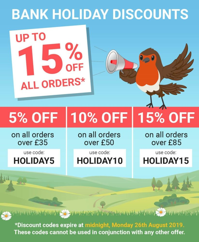 Save Up To 15% OFF All Orders at Garden Wildlife Direct