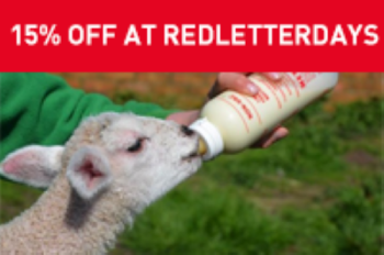 Get a roaring 15% off at Red Letter Days