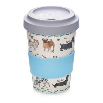 Debonair Dogs Bamboo Fibre Travel Mug