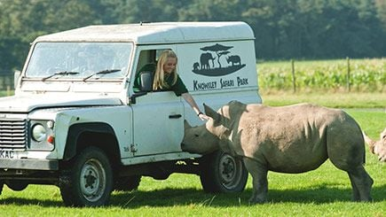 Have an Animal Encounter at Knowsley Safari Park