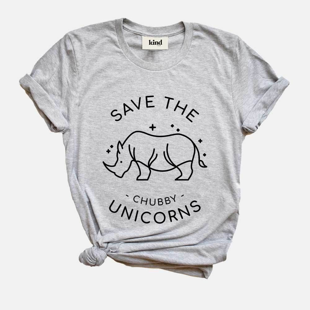 This is their Save The Chubby Unicorns - Organic Cotton T-Shirt