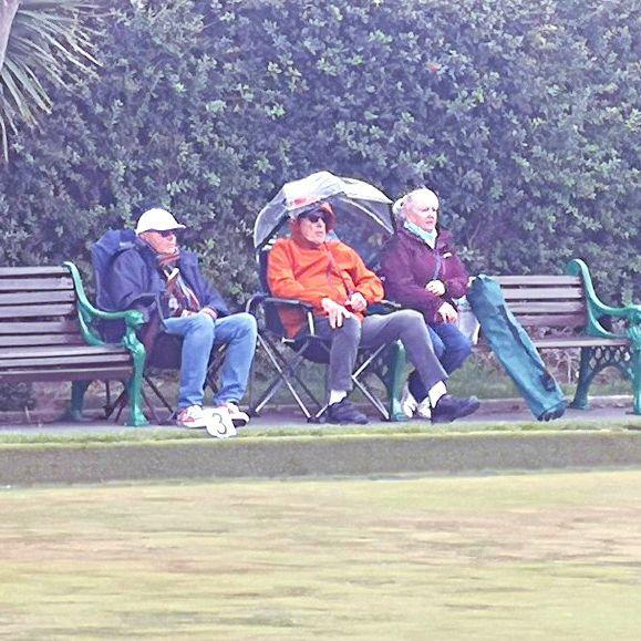 Sandra & Paul Baker & Mark Berriman Braving the weather - Finals Day_InPixi