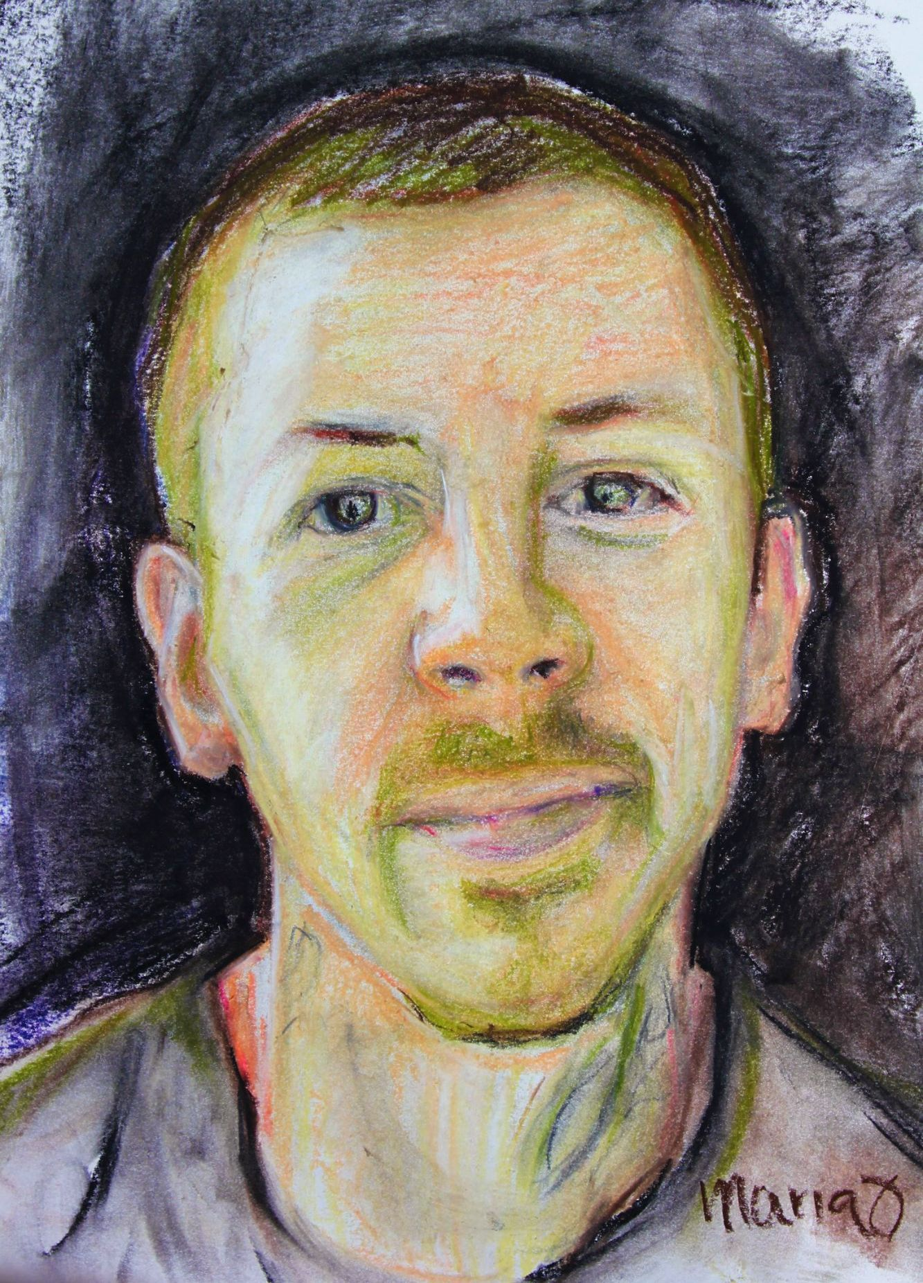 Dr Green, #paoty #skyarts #paotw , pastel on paper