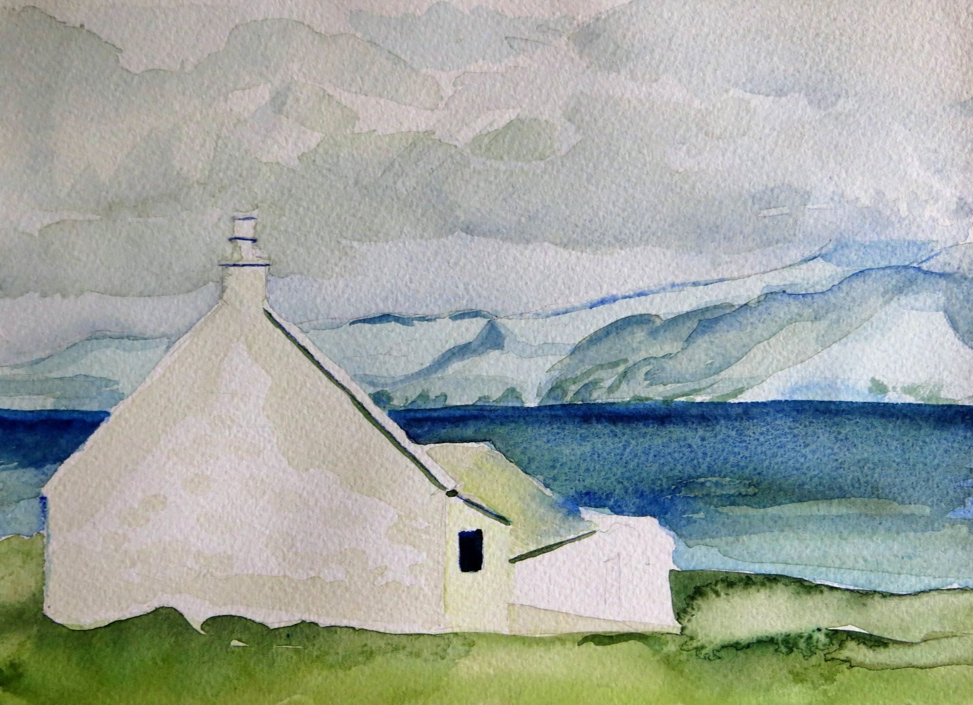 watercolour 2, Iona looking to Mull, 2000