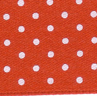 25mm Spotty Ribbon - Mini Red 5932-15