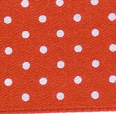 25mm Spotty Ribbon - Mini Red 5932-15