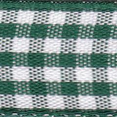 25mm Check Ribbon - Small Green 7391-455