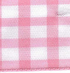 25mm Pink & White Check Ribbon (large Check) - 1141-57