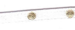 3mm Spotty Ribbon - White With Gold 12530/11