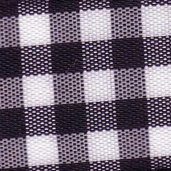 25mm Black & White Check Ribbon (Large Check) 1141