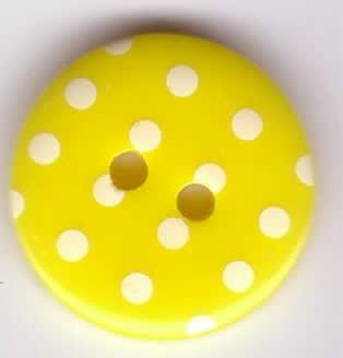 Button - Spotty P1724 Size 28 Yellow 113