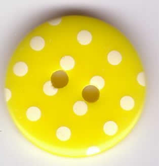 Button - Spotty Yellow 113 P1724