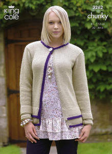 3262 Knitting Pattern - Chunky (Ladies)