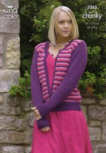 3265 Knitting Pattern - Chunky (Ladies)