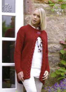 3263 Knitting Pattern - Chunky (Ladies)