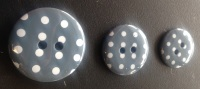 Button Spotty Grey 970 P1724