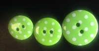 Button - Spotty Lime Green 441 P1724