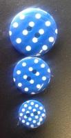 Button - Spotty Royal Blue 765 P1724