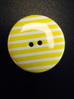 Buttons - Striped Yellow 113 P1725
