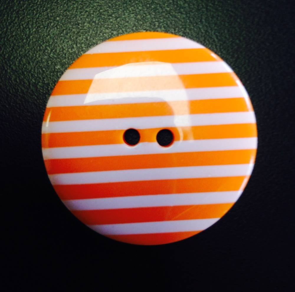 Buttons - Striped Orange 331 P1725