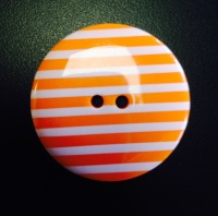 Buttons - Striped Orange 331 P1725
