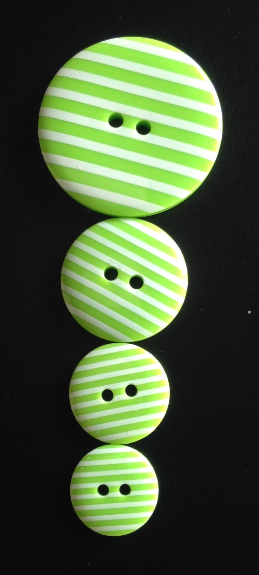 Buttons - Striped Lime Green 441 P1725