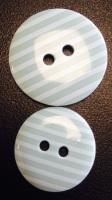 Buttons - Striped Mint Green 440 P1725