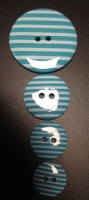 Buttons - Striped Turquoise 544 P1725