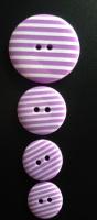 Buttons - Striped Violet 610 P1725