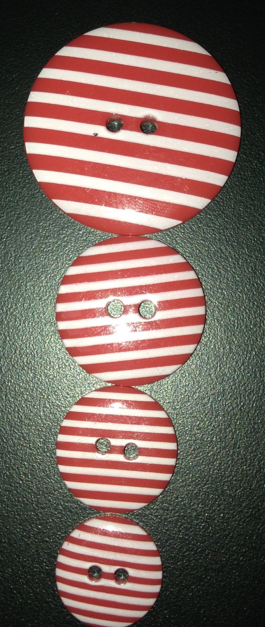 Buttons - Striped Red 329 P1725