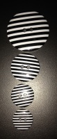 Buttons - Striped Black 990 P1725