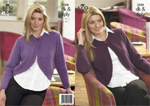 3206 Knitting Pattern - DK & 4 Ply (Adult)*