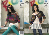 3214 Knitting Pattern - Ladie's Double Knit (Riot)*
