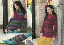 3216 Knitting Pattern - Double Knit (Riot)