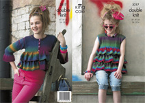 3217 Knitting Pattern - Girl's Double Knit (Riot)*