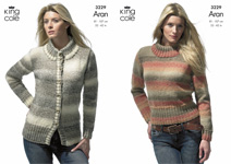 3229 Knitting Pattern - Aran (Ladies)*