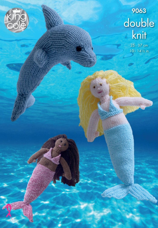 9063 Knitting Pattern - Mermaid & Dolphin DK