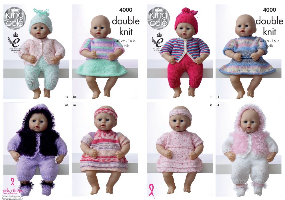 4000 Knitting Pattern - Dolls Clothes