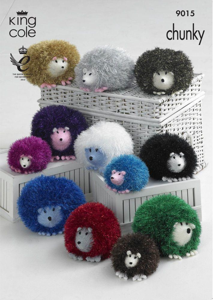 9015 Knitting Pattern - Hedgehog in Tinsel Chunky