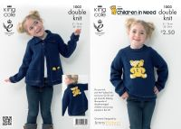 1003 Children in Need Knitting Pattern DK - Childs Jumper/Cardigan 20 - 30""